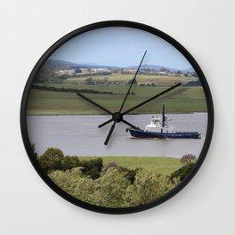 Tug Motoring Down the Tamar* Wall Clock