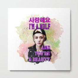 wolf Sehun Metal Print