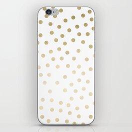 Stylish Gold Polka Dots iPhone Skin