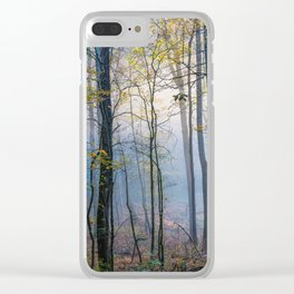Mystic Forest - Early Morning Glow in Smoky Mountains Clear iPhone Case