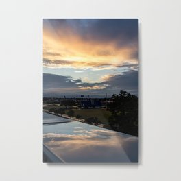 Rainy Day Reflections Metal Print