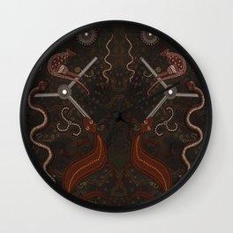 Three Billabongs - Australian Aboriginal Art Theme Wall Clock