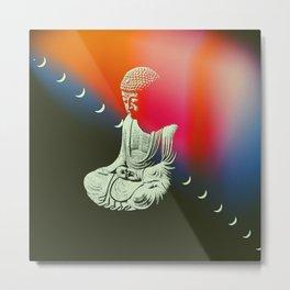 Buddha Moons Metal Print