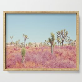 Surreal Desert - Joshua Tree Landscape Photography Serving Tray