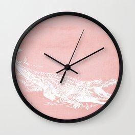 Pinkodile Wall Clock