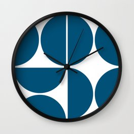 Mid Century Modern Blue Square Wall Clock