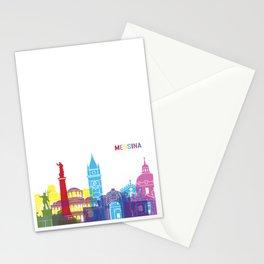 Messina skyline pop Stationery Cards