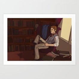 Combeferre's Library Art Print