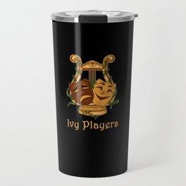 Ivy Players Logo on Black Travel Mug