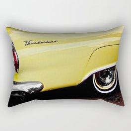 Yellow Vintage Ford Thunderbird Car Rectangular Pillow