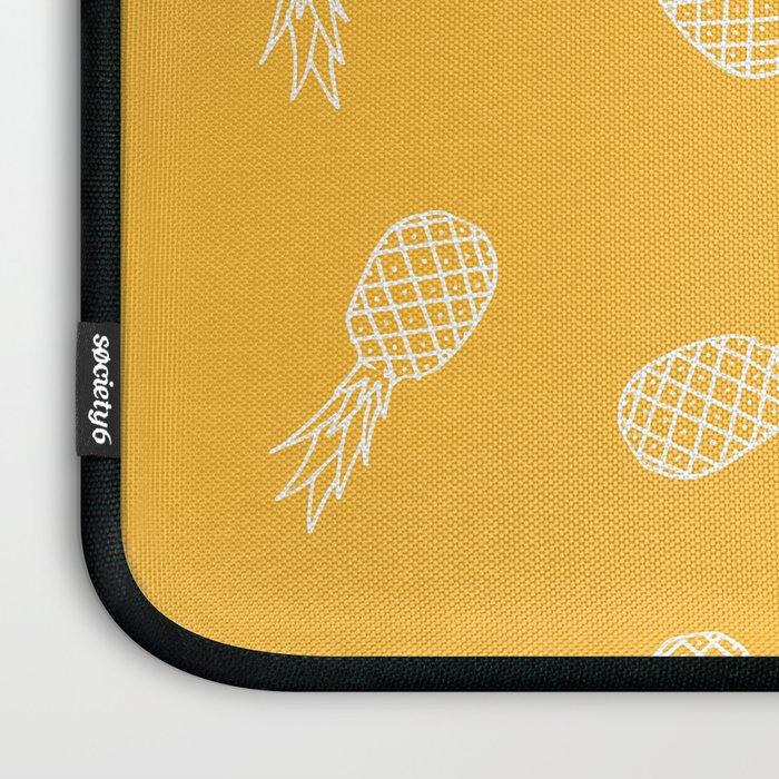Pineapples Pattern in Zinnia Yellow Laptop Sleeve