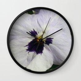 Light Purple Pansy Wall Clock