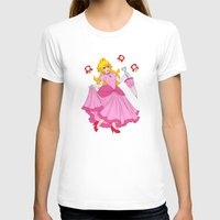 princess peach T-shirts featuring PRINCESS PEACH by Laurdione