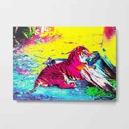 Tiger Bright Metal Print