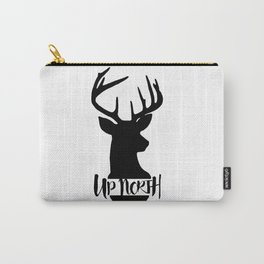 Up North Deer Silhouette Carry-All Pouch