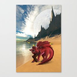Dragonlings of Valdier: Amber Canvas Print