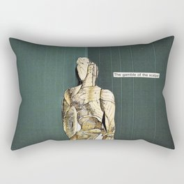 how do you even begin to claw yourself open for the right people again Rectangular Pillow