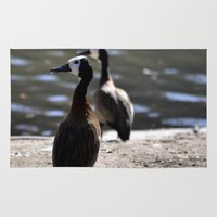 ducks Area & Throw Rugs featuring Ducks by Phil Hinkle Designs
