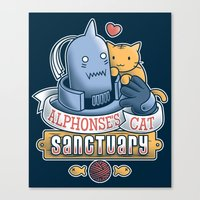 fullmetal Canvas Prints featuring Alphonse's Cat Sanctuary by adho1982
