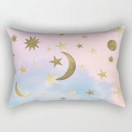Pastel Starry Sky Moon Dream #1 #decor #art #society6 Rectangular Pillow