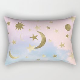 Pastel Starry Sky Moon Dream #1 #decor #art #society6 Rectangular Pillow