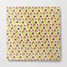 Hammy Pattern in Lemon Yellow Metal Print