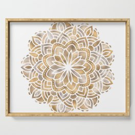 Mandala Multi Metallic in Gold Silver Bronze Copper Serving Tray