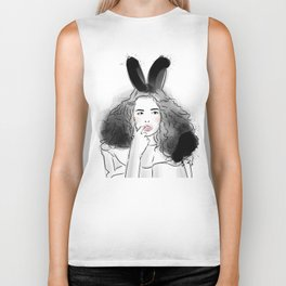 Fashionable easter bunny girl Biker Tank