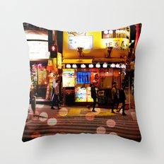Shibuya Stroll Throw Pillow