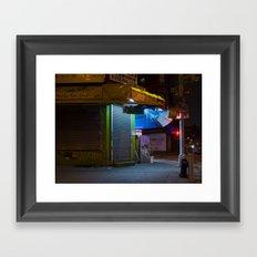 CHINATOWN NYC AT NIGHT. Framed Art Print