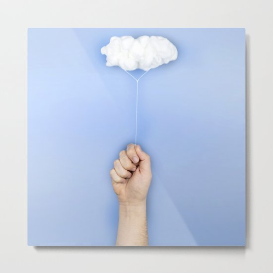 My cloud balloon Metal Print