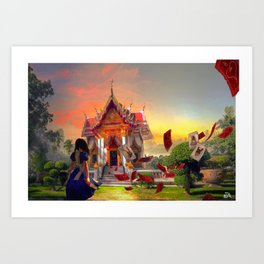 Alice in Thailand Art Print