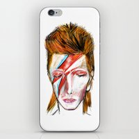 bowie iPhone & iPod Skins featuring Bowie by James Peart