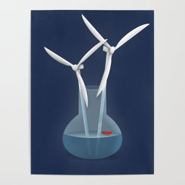 Don't forget to water your wind turbines Poster