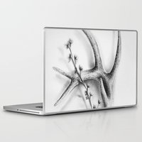 antler Laptop & iPad Skins featuring Antler Flowers by Robyn Marshall