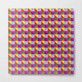 Eight Triangles Pixel Metal Print