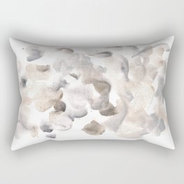 180630 Grey Black Brown Abstract Watercolour 8| Watercolor Brush Strokes Rectangular Pillow