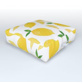 Lemon Cut Out Pattern Outdoor Floor Cushion