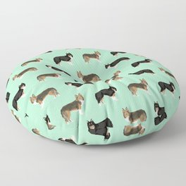 Shetland Sheep Dog pattern custom dog gifts for unique dog breed pet friendly dogs Floor Pillow