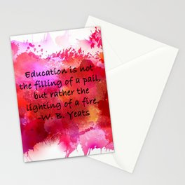Lighting of a Fire Stationery Cards