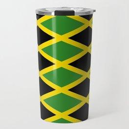 Flag of Jamaica 3-Jamaican,Bob Marley,Reggae,rastafari,cannabis,ganja,america,south america,ragga Travel Mug