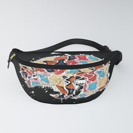 Colorful Abstract Mama Bear Illustration Fanny Pack
