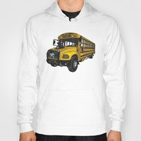 school Hoodies featuring School bus by mangulica illustrations