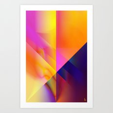 The Gamma Crest Art Print