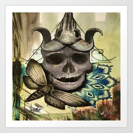 Skull-Dala Art Print