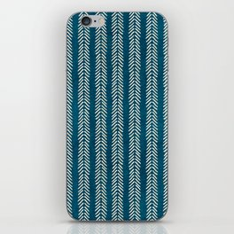 Mud cloth Teal Arrowheads iPhone Skin