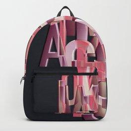 Din font poster Backpack