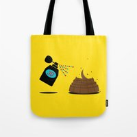 3d Tote Bags featuring 3D by Viktor Hertz