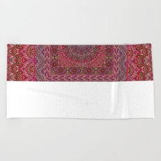 Farah Squared Red Beach Towel