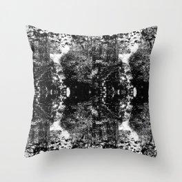 Faux Snakeskin B & W Throw Pillow
